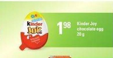 Kinder Joy Chocolate Egg - 20 g