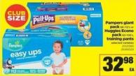 Pampers Giant Pack 86-112's Or Huggies Econo Pack 82-108's - Training Pants