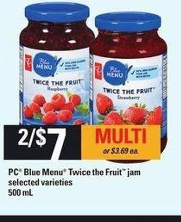 PC Blue Menu Twice The Fruit Jam - 500 mL