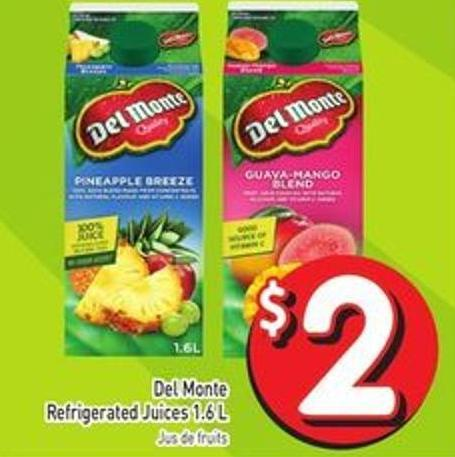 Del Monte Refrigerated Juices 1.6 L