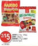 Kerr's (175g - 200g) - Dare (180g) or Haribo (175g) Candy