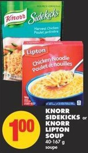Knorr Sidekicks or Knorr Lipton Soup - 40-167 g