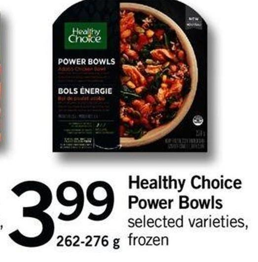 Healthy Choice Power Bowls - 262-276 g