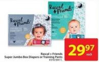 Rascal + Friends Super Jumbo Box Diapers