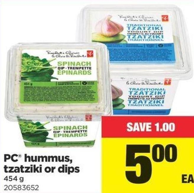 PC Hummus - Tzatziki Or Dips - 454 G