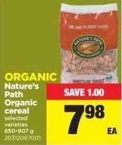 Nature's Path Organic Cereal - 650-907 G