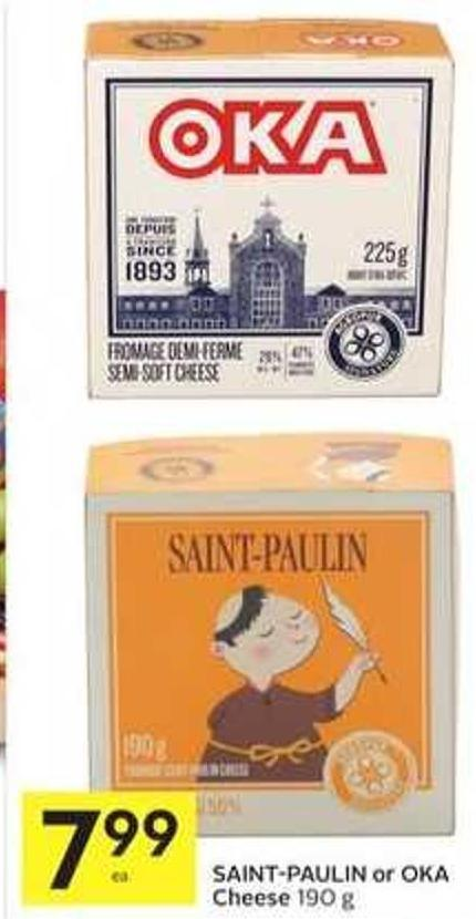 Saint-paulin or Oka Cheese