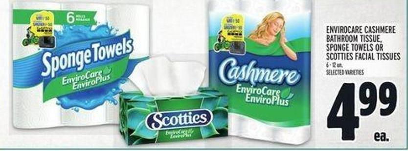 Envirocare Cashmere Bathroom Tissue - Sponge Towels Or Scotties Facial Tissues