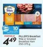 Piller's Breakfast Trio - 10 Air Miles Bonus Miles