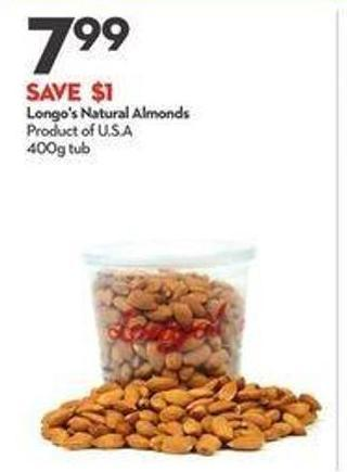 Longo's Natural Almonds