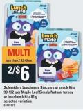 Schneiders Lunchmate Stackers Or Snack Kits 90-132 G Or Maple Leaf Simply Natural Turkey Or Ham Lunch Kits 81 G