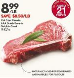 Cut From Canada  Aaa Grade Bone-in  Striploin Steak