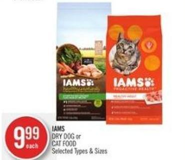 Iams Dry Dog or Cat Food