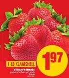 Strawberries - 1 Lb Clamshell