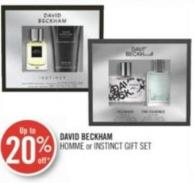 David Beckham Homme or Instinct Gift Set