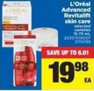 L'oréal Advanced Revitalift Skin Care - 15-75 mL