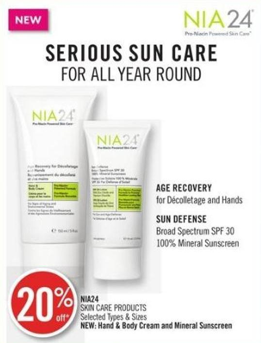 Nia24 Skin Care Products