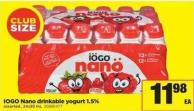 IOGO Nano Drinkable Yogurt 1.5% - 24x93 mL