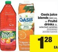 Oasis Juice Blends 960 Ml Or Fruité Drinks 2l