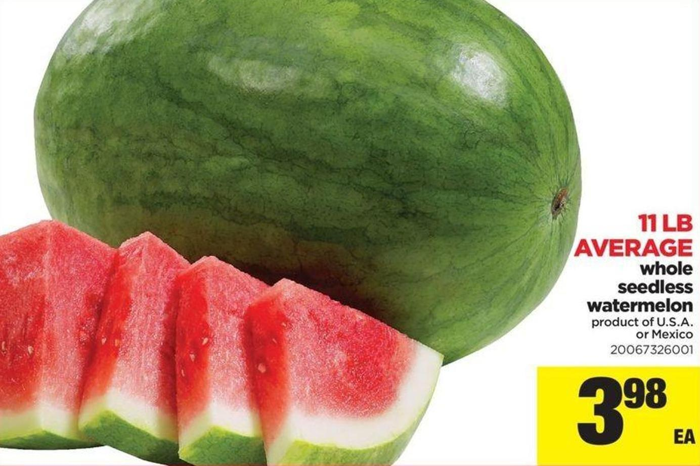 Whole Seedless Watermelon - 11 Lb