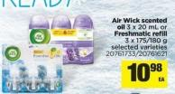 Air Wick Scented Oil - 3 X 20 Ml Or Freshmatic Refill - 3 X 175/180 G