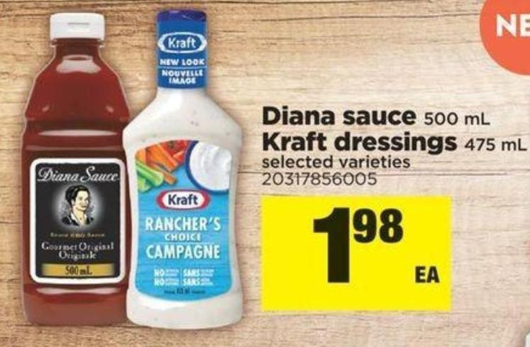 Diana Sauce - 500 Ml Kraft Dressings - 475 Ml