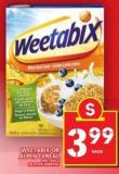 Weetabix Or Alpen Cereal