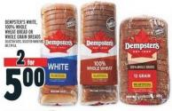 Dempster's White - 100% Whole Wheat Bread Or Whole Grain Breads
