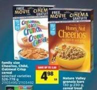Family Size Cheerios - Child - Oatmeal Crisp Cereal - 526-778 g