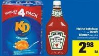 Heinz Ketchup - 1 L Or Kraft Dinner - Pkg Of 4