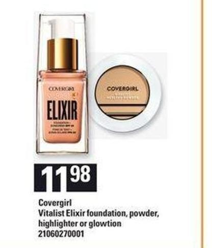 Covergirl Vitalist Elixir Foundation - Powder - Highlighter Or Glowtion