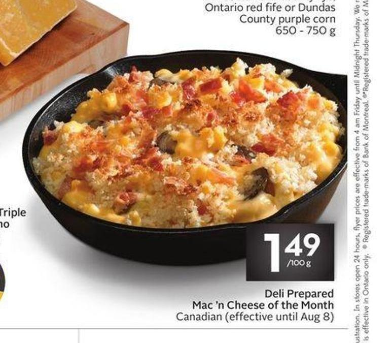 Deli Prepared Mac 'N Cheese of The Month