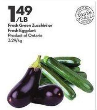 Fresh Green Zucchini or Fresh Eggplant