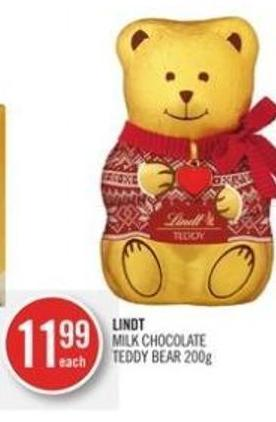 Lindt Milk Chocolate Teddy Bear 200g