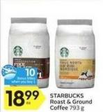 Starbucks Roast & Ground Coffee - 10 Air Miles Bonus Miles