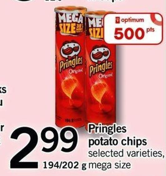 Pringles Potato Chips - 194/202 G