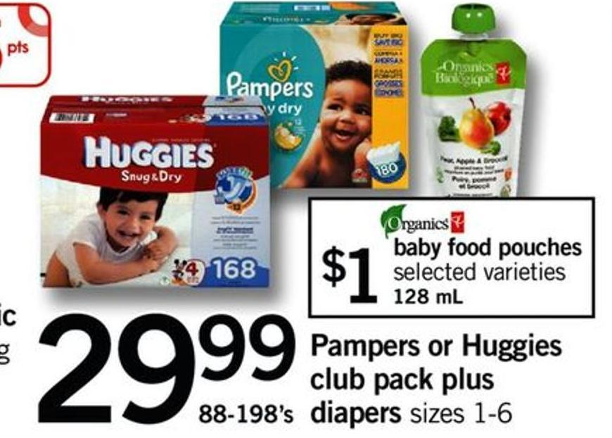 Pampers Or Huggies Club Pack Plus Diapers Sizes - 88-198's