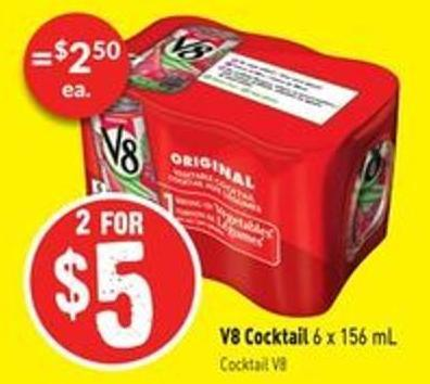 V8 Cocktail 6 X 156 mL Cocktail V8
