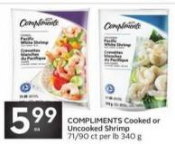 Compliments Cooked or Uncooked Shrimp