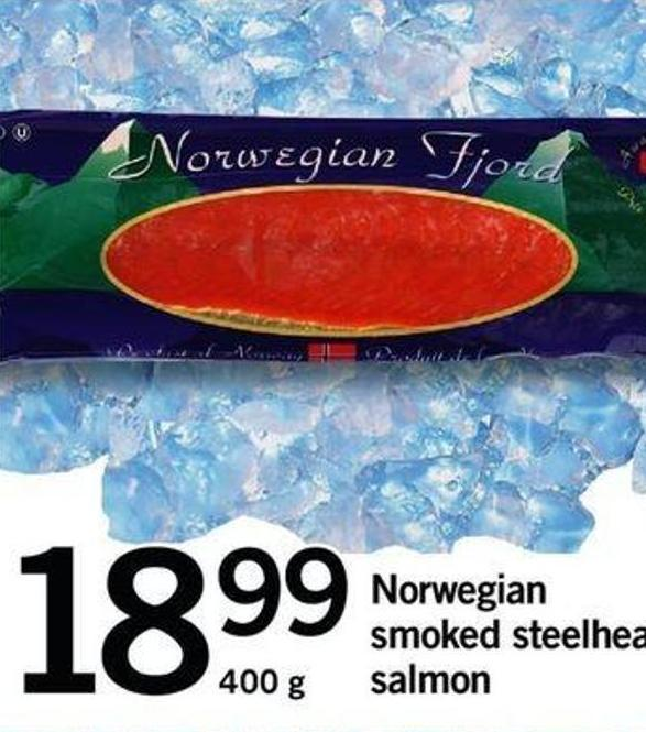 Norwegian Smoked Steelhead Salmon - 400 G