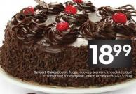 Dessert Cakes Double Fudge - Cookies & Cream - Chocolate Cloud - Something For Everyone - Lemon or Snickers 1.2-1.535 Kg