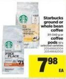 Starbucks Ground Or Whole Bean Coffee - 311-340 g Or Coffee PODS - 10's