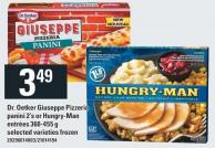 Dr. Oetker Giuseppe Pizzeria Panini 2's Or Hungry-man Entrées 360-455 g