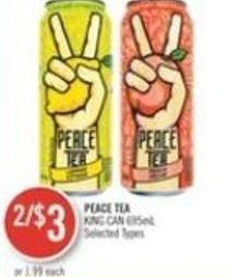 Peace Tea King Can