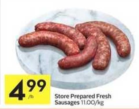 Store Prepared Fresh Sausages