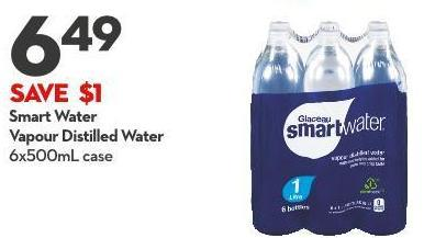 Smart Water Vapour Distilled Water 6x500ml Case