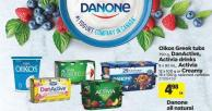 Oikos Greek Tubs - 750 G - Danactive - Activia Drinks - 8 X 93 Ml - Activia - 12 X 100 G Or Creamy - 16 X 100 G