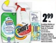 Scrubbing Bubbles Or Shout Cleaners And Glade Air Freshener
