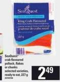 Seaquest Crab Flavoured Pollock - Flakes Or Chunks - 227 g