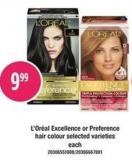 L'oréal Excellence Or Preference Hair Colour